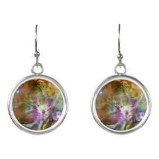Decorative Orion Nebula Galaxy Space Photo Earrings