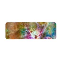 Decorative Orion Nebula Galaxy Space Photo Label