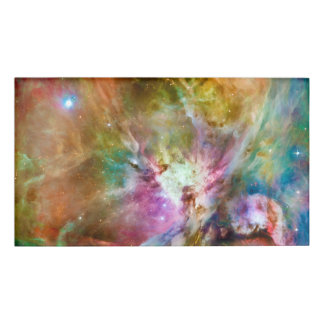 Decorative Orion Nebula Galaxy Space Photo Name Tag