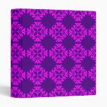 Decorative Ornate Vintage Pink on Purple Damask Binder