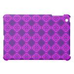 Decorative Ornate Vintage Pink on Purple Damask iPad Mini Covers