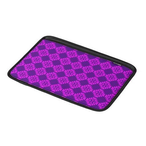 Decorative Ornate Vintage Pink on Purple Damask MacBook Air Sleeve