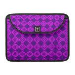 Decorative Ornate Vintage Pink on Purple Damask Sleeve For MacBook Pro