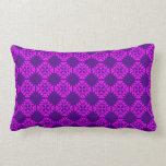Decorative Ornate Vintage Pink on Purple Damask Throw Pillow