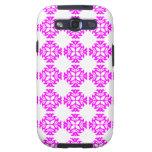 Decorative Ornate Vintage Pink on White Damask Samsung Galaxy SIII Case