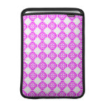 Decorative Ornate Vintage Pink on White Damask Sleeve For MacBook Air