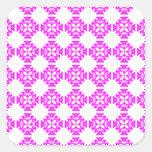 Decorative Ornate Vintage Pink on White Damask Stickers