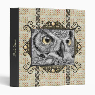 Decorative Owl Binder
