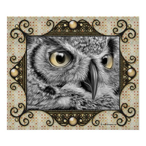Decorative Owl Poster