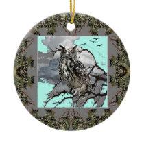 DECORATIVE OWL WILDERNESS GREY DESIGN CERAMIC ORNAMENT