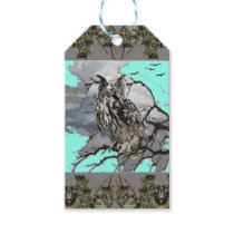 DECORATIVE OWL WILDERNESS GREY DESIGN GIFT TAGS