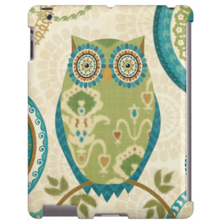 Decorative Owl with Circular Designs