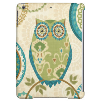 Decorative Owl with Circular Designs Cover For iPad Air