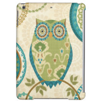 Decorative Owl with Circular Designs iPad Air Covers