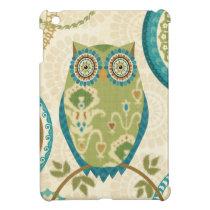 Decorative Owl with Circular Designs iPad Mini Cases