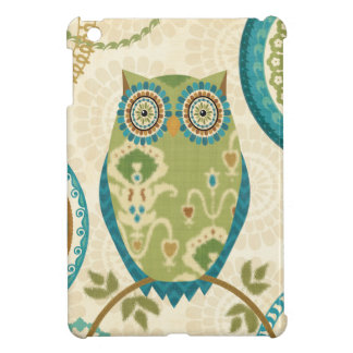 Decorative Owl with Circular Designs iPad Mini Cases