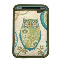 Decorative Owl with Circular Designs iPad Mini Sleeve