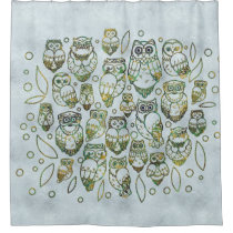 Decorative Owls Shower Curtain