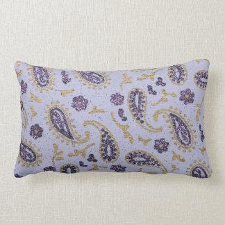 Decorative paisley purple lavender gold throw pillow