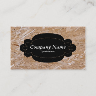 Chipboard business cards templates zazzle decorative panel 01 black chipboard business card colourmoves
