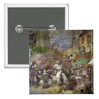 Decorative panel depicting Paris 2 Inch Square Button