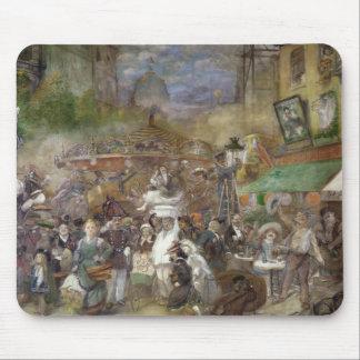 Decorative panel depicting Paris Mouse Pad