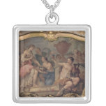 Decorative panel from the Oval Salon Square Pendant Necklace
