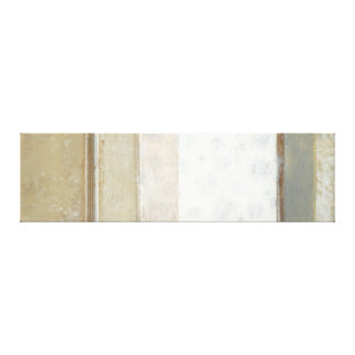 Decorative Panel Painting in Neutral Colors Canvas Print
