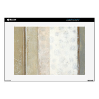 """Decorative Panel Painting in Neutral Colors 15"""" Laptop Decal"""