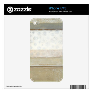 Decorative Panel Painting in Neutral Colors Skins For The iPhone 4