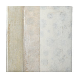 Decorative Panel Painting in Neutral Colors Ceramic Tiles