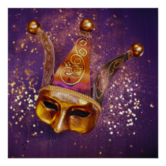Decorative Party Mask Poster