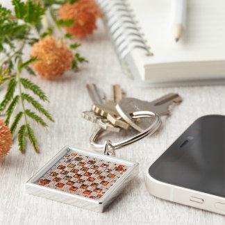 Decorative Patron Image Premium-Square-Key-chain Keychain