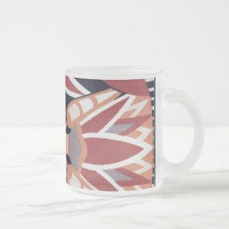 Decorative Pattern Frosted Glass Coffee Mug