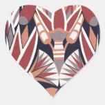 Decorative Pattern Heart Stickers
