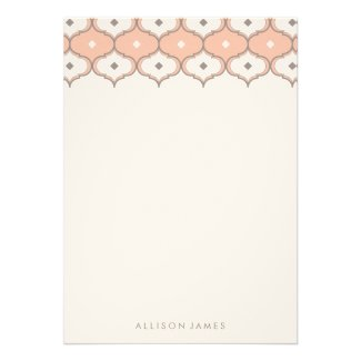 Decorative pattern note cards