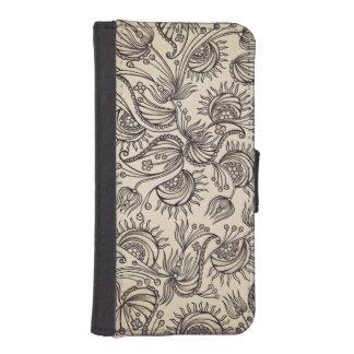 Decorative Pattern Wallet Case iPhone 5 Wallets