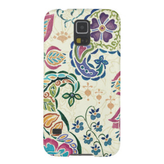Decorative Peacock and Colorful Flowers Galaxy S5 Case