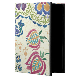 Decorative Peacock and Colorful Flowers iPad Air Case