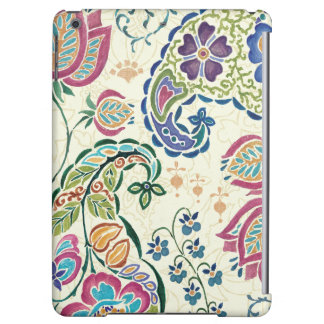 Decorative Peacock and Colorful Flowers iPad Air Covers