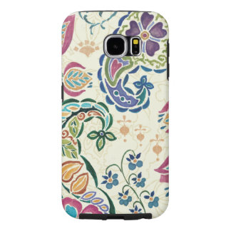 Decorative Peacock and Colorful Flowers Samsung Galaxy S6 Case