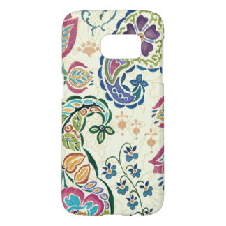 Decorative Peacock and Colorful Flowers Samsung Galaxy S7 Case
