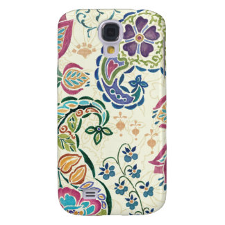Decorative Peacock and Colorful Flowers Samsung S4 Case