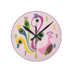 Decorative Peacock Wall Clock