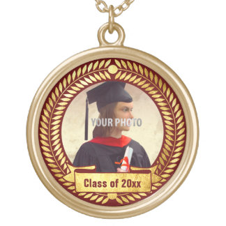 Decorative Photo Frame for Graduation Round Pendant Necklace