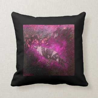 Decorative Pillow Squawk in Pink- Striped Bird