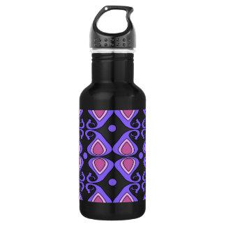 Decorative Pink And Purple Paisley Pattern 18oz Water Bottle