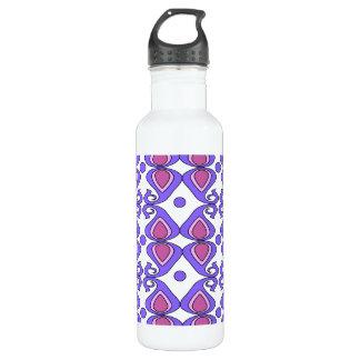 Decorative Pink And Purple Paisley Pattern 24oz Water Bottle