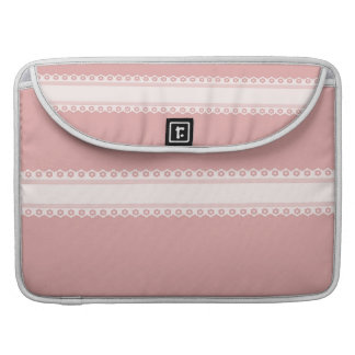Decorative Pink And White Lace Sleeve For MacBooks
