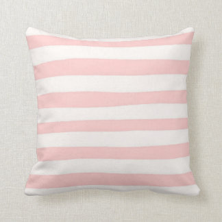 Decorative Pink and White Stripe Throw Pillow